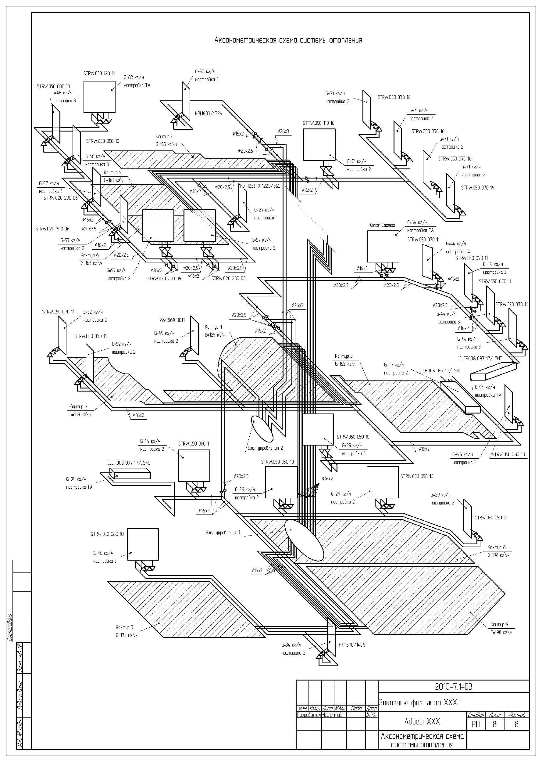 образец проекта отопления коттеджа