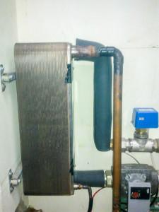 пластинчатый теплообменник для комплекта системы отопления