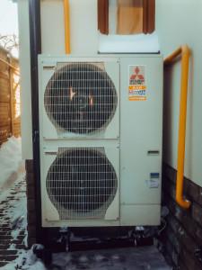 наружный блок системы отопления с тепловым насосом своими руками