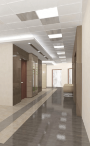 освещение офисных помещений светодиодными лампами
