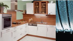 компактный конденсационный котел на кухне