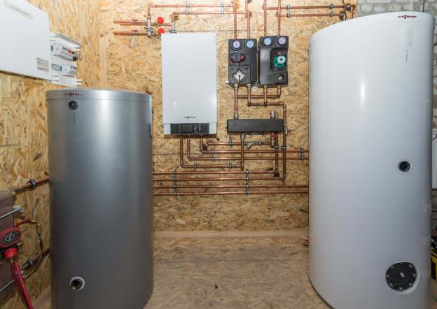 комбинированное отопление воздушным тепловым насосом и газовым котлом