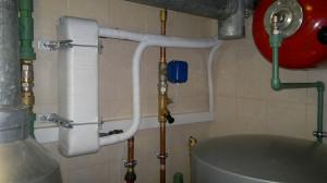 Теплообменник фреон-вода в изоляции