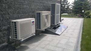 Внешние блоки кондицинеров и теплового насоса